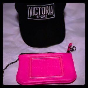 """Victoria's Secret Accessories - """"VS""""WRISTLET&HAT BUNDLE 🎉🎉"""